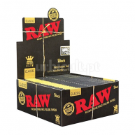Caixa Mortalhas Raw Black King Size Slim