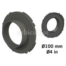 """Conector """"Ducting Flange"""" 100mm (tubos Ø16mm)"""