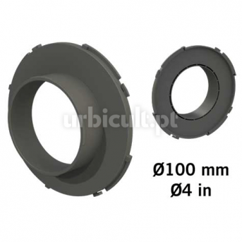 "Conector ""Ducting Flange"" 100mm (tubos Ø16mm)"