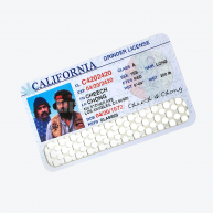 "Grinder Card ""CHEECH & CHONG LICENSE"" V-Syndicate"